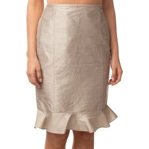 Armani Collezioni Skirts - Armani Collezioni Pewter Metallic Trumpet Skirt